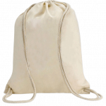 [CT 401-Natural] Eco-neutral Cotton Draw String Bags-Natural