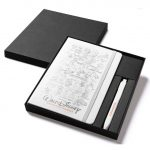 [OWMOL 326] Moleskine Classic Large Notebook & Go Pen Set (White)